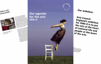 Front cover and inside pages of Arts Council England's corporate plan for 2006-08