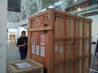 Image of crates at Art14