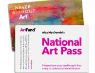 Image of National Arts Pass card