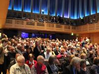Image of audience for poetry event