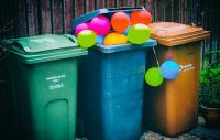 Photo of balloons in the bin