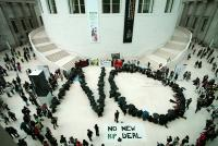 Photo of protest at British Museum