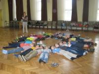 Photo of children lying on floor