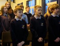 Photo of school children singing