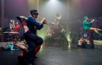 Circus performance with musicians