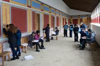 Children working in corridor