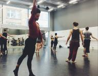 Photo of dancers in class