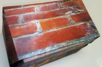 Photo of rows of red bricks