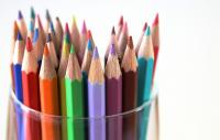 Photo of lots of coloured pencils