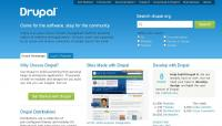 Image of Drupal front page