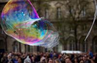 Photo of a bubble bursting