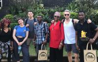 Photo of The artists from Freetown and Hull at the British Council in Sierra Leone