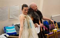 Photo of Charlotte Arrowsmith in rehearsal for As You Like It