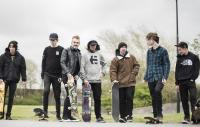 Photo of a group of skateboarders