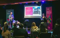A photo of a talk by Ticketsolve