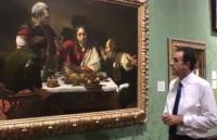 Gabriele Finaldi talking in front of a painting
