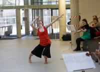 Image of dancer in rehearsal
