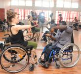 Photo of dance workshop with wheelchairs