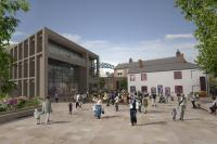 CGI image of Live Theatre's public park and performance space