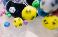 Close up of National lottery balls