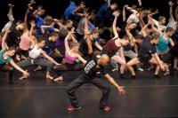 Photo of dancers rehearsing