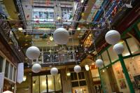 Image of sound installation in Huddersfield shopping arcade