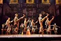 Production shot of dancers in Disney's Newsies