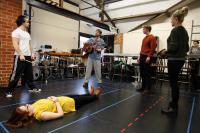 Photo of rehearsal of Romeo and Juliet
