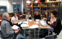 A group of tutors in a meeting