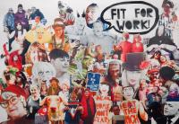 Vince Laws, Fit For Work!, comic book page spread, 2020 – Not Going Back To Normal