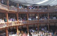 A photo of the audience at Shakespeare's Globe