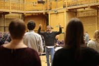Image of rehearsal with Simon Halsey