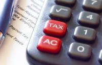 Photo of calculator 'tax' button