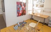 Photo of artist's workspace