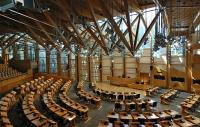 Internal view of the Scottish Parliament