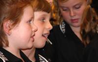 Photo of girls singing