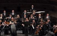 Photo of orchestra on stage