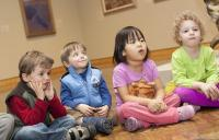 Photo of children in a gallery