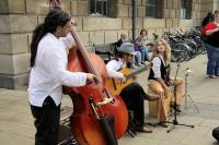 Musicians performing in the street