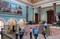 Photo of people in gallery foyer