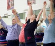 Photo of a session of the Dance for Parkinson's project