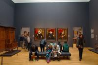 Interior of Rijksmuseum - people in gallery