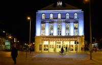 The Old Vic at nightime