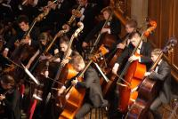 Photo of the youth orchestra playing