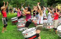 Photo of women drumming