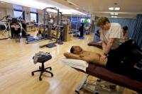 A dancer being treated at Birmingham Royal Ballet's Jerwood Centre for the Prevention and Treatment of Dance Injuries