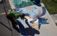 Photo of street artist