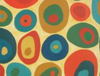 Painting of coloured oval shapes