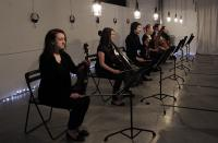 Photo of Sinfonia Cymru musicians playing