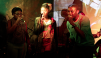 Photo of three singers